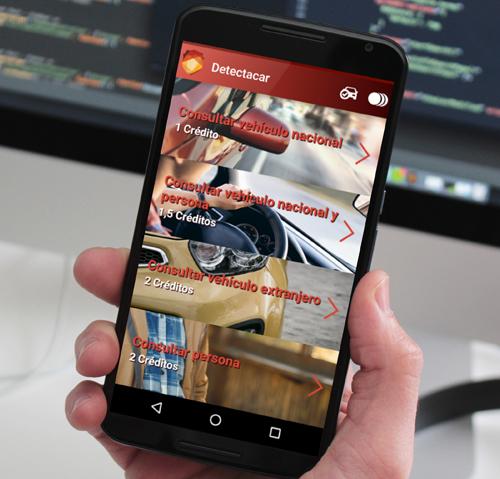 APP Android de consulta de matriculas para detectives