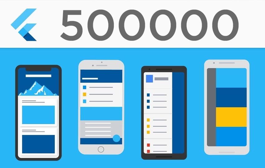 500000 desarrolladores estan usando Flutter todos los meses