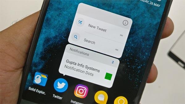 notificacion dots android o